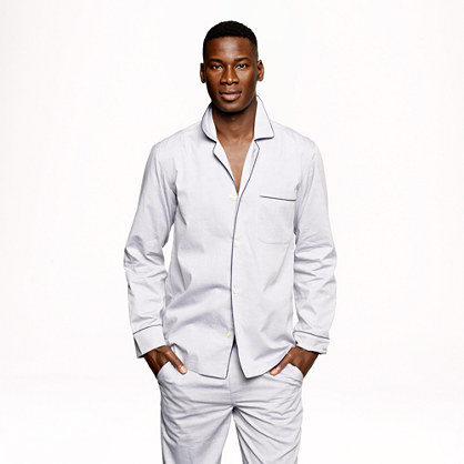 Slim oxford cotton pajama set
