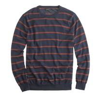 Slim merino sweater in navy stripe