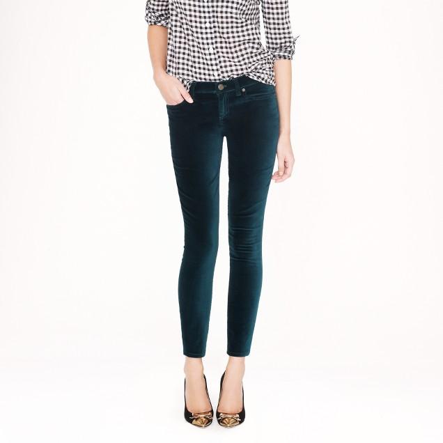 Tall toothpick jean in velvet
