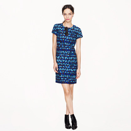 Collection stained-glass jacquard dress