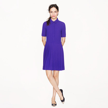 Collection crepe shirtdress
