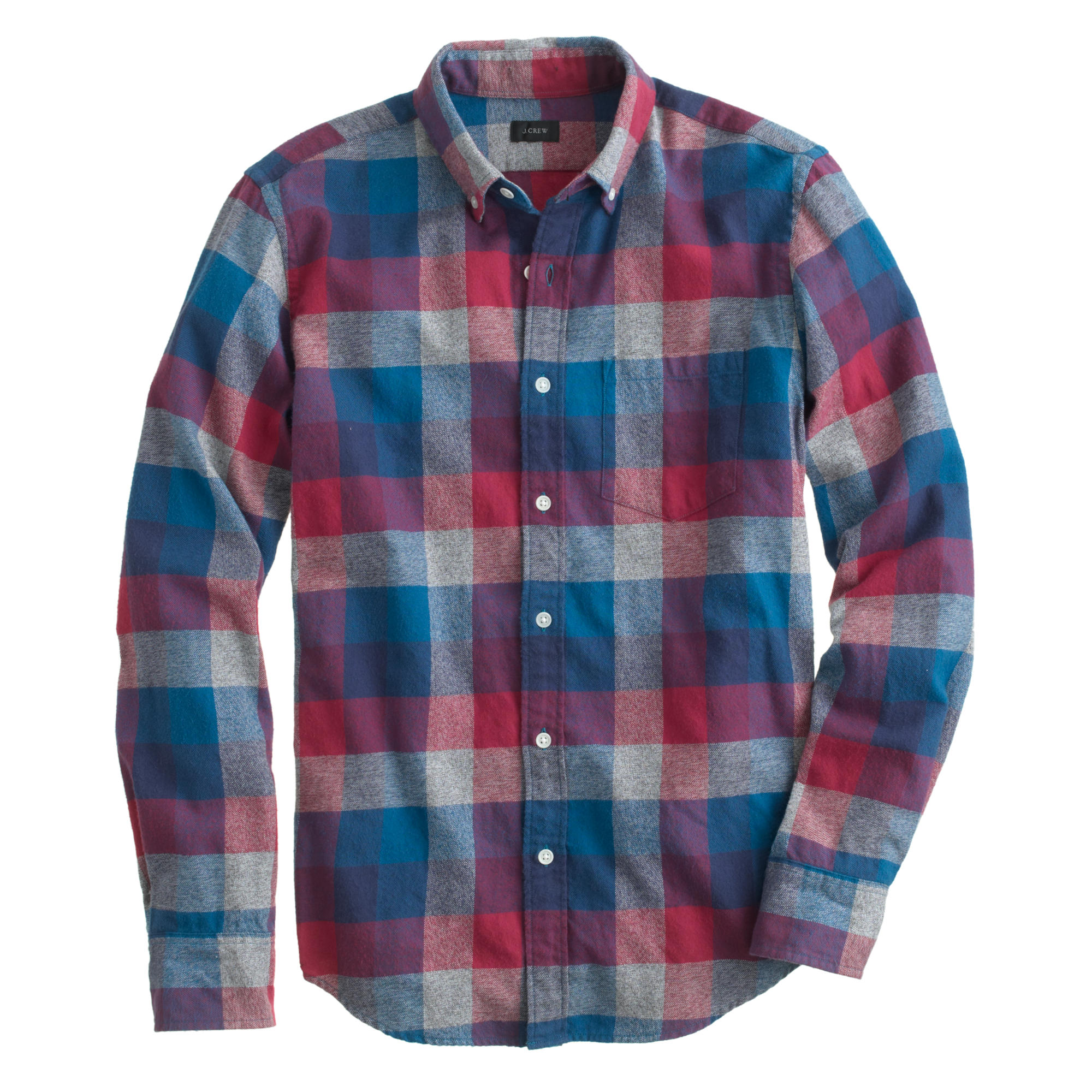 Brushed Twill Shirt In Heathered Plaid J Crew