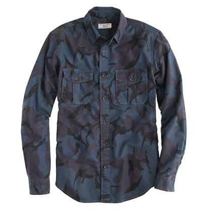 Wallace & Barnes canvas camo shirt