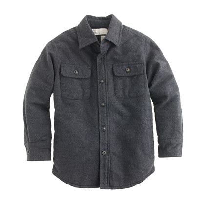 Boys' heather quilted chamois workshirt