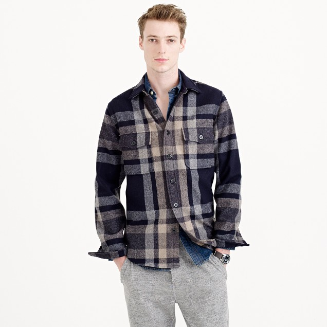 Wallace & Barnes plaid CPO shirt-jacket