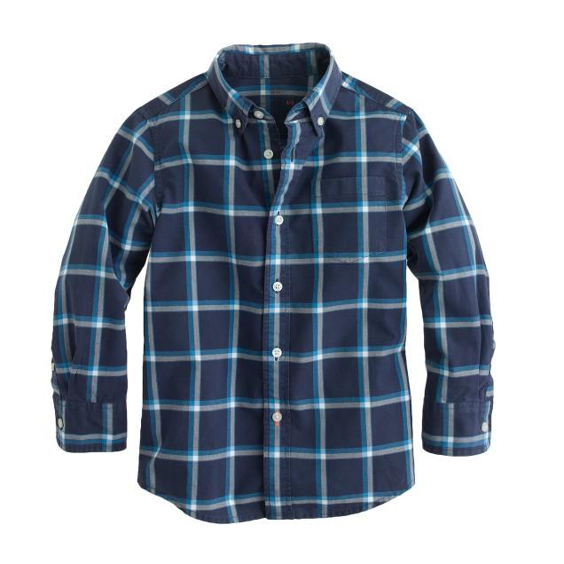 Boys' Secret Wash shirt in chatham bay check