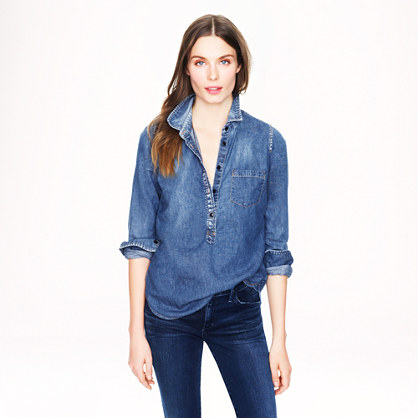 Classic chambray popover