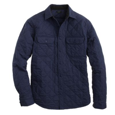 Quilted shirt-jacket : | J.Crew