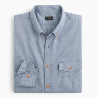 Slim brushed twill shirt in mini-herringbone