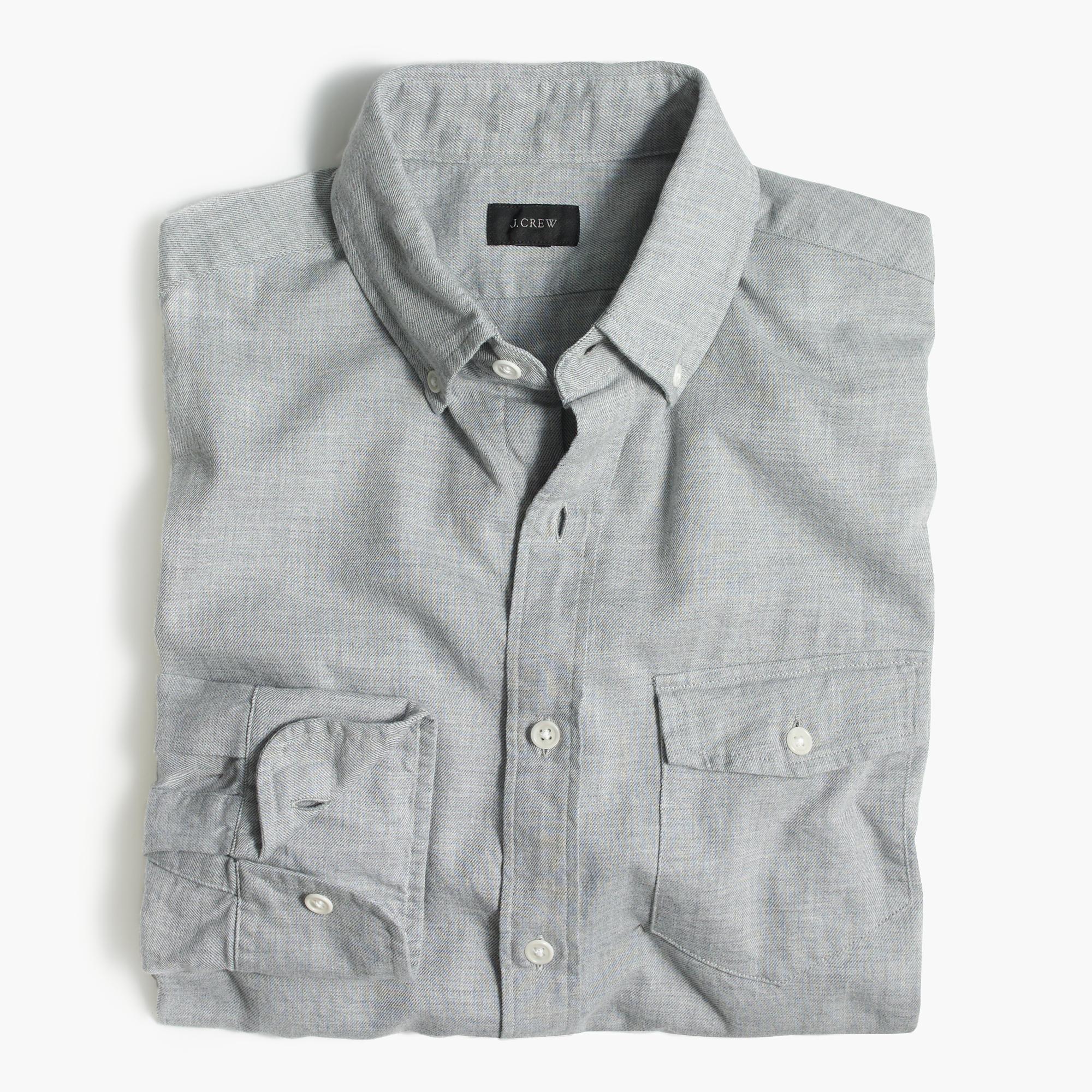 Slim brushed twill shirt men 39 s shirts j crew for Brushed cotton twill shirt