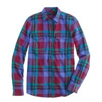 Garnet flame plaid shirt