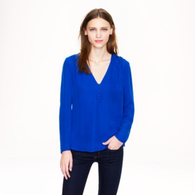 Silk georgette blouse : Women blouses | J.Crew
