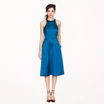 Collection twill flare dress