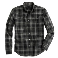 Tall Secret Wash shirt in heathered wild blackberry plaid