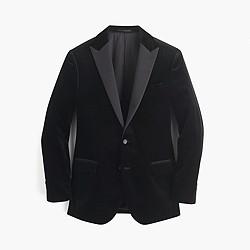 Ludlow peak-lapel blazer in velvet