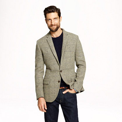 Ludlow sportcoat in windowpane English wool