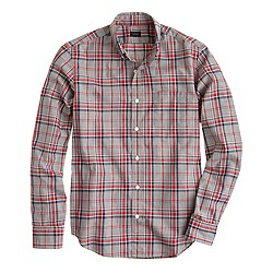 Slim Secret Wash shirt in nightfall heather plaid