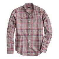 Slim Secret Wash shirt in nightfall heather plaid