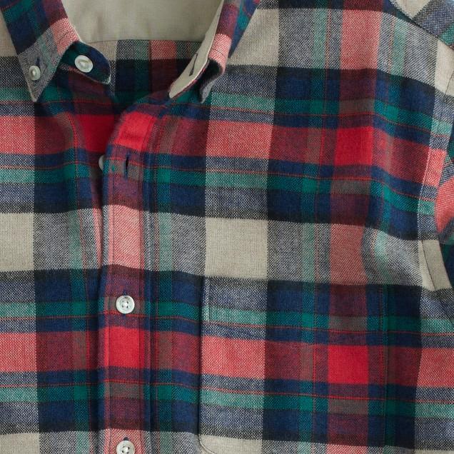 Wallace & Barnes woodshop flannel shirt in chili powder plaid