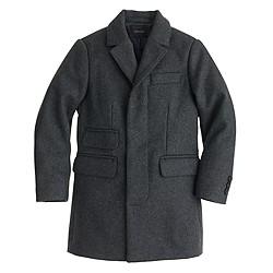 Boys' wool topcoat
