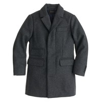 Boys' wool topcoat