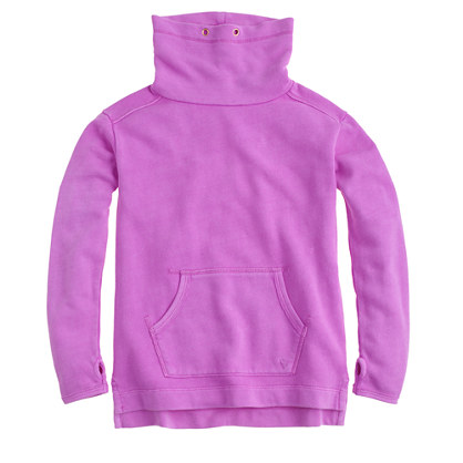 Girls' cowlneck fleece pullover sweatshirt
