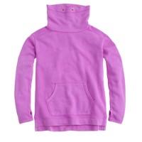 Girls' cowlneck fleece pullover sweatshirt