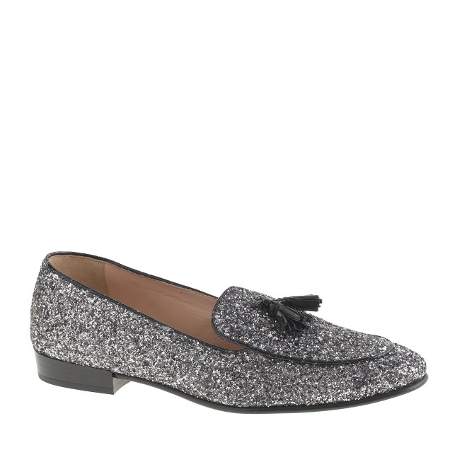Collection Biella glitter tassel loafers