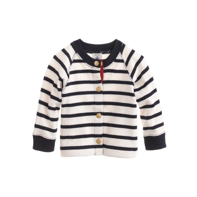 Baby Petit Bateau® striped cardigan sweater