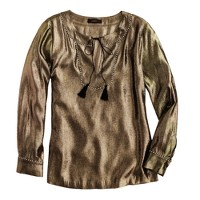 Silk metallic tunic