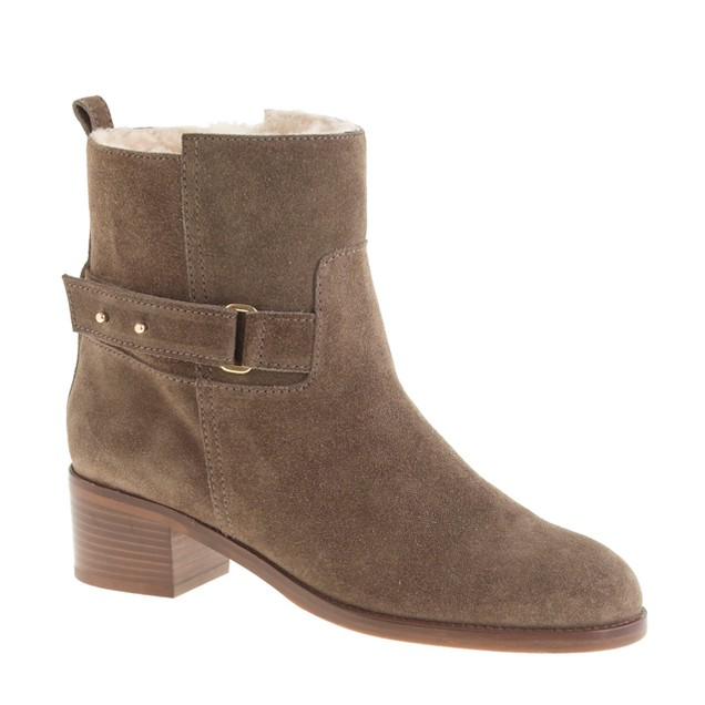 Parker shearling-lined suede ankle boots