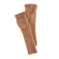 Long cashmere glittens