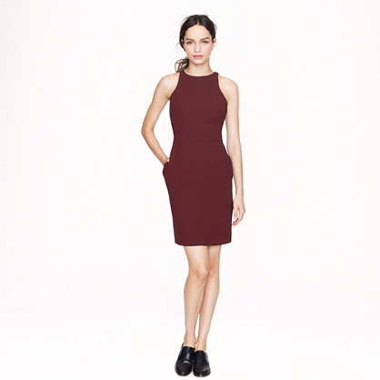 Cutaway crepe dress