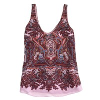 Cate cami in iced lilac paisley