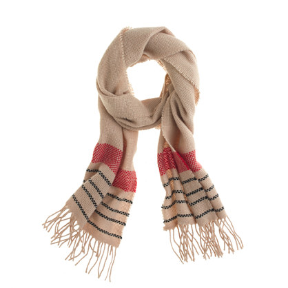 Checker-stripe scarf