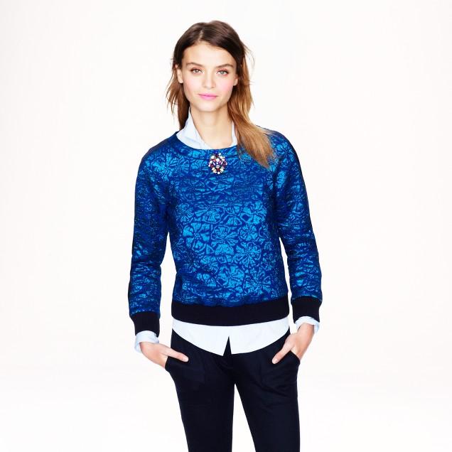 Delphinium jacquard sweatshirt