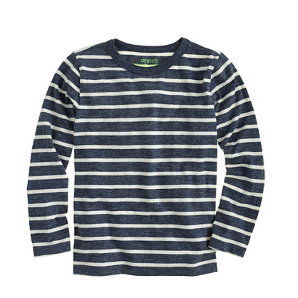 Boys' long-sleeve sailor stripe tee