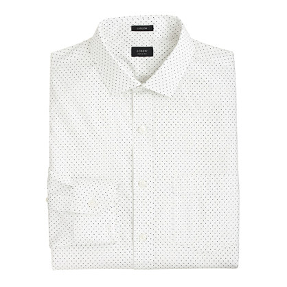 Tall Ludlow spread-collar shirt in dot print