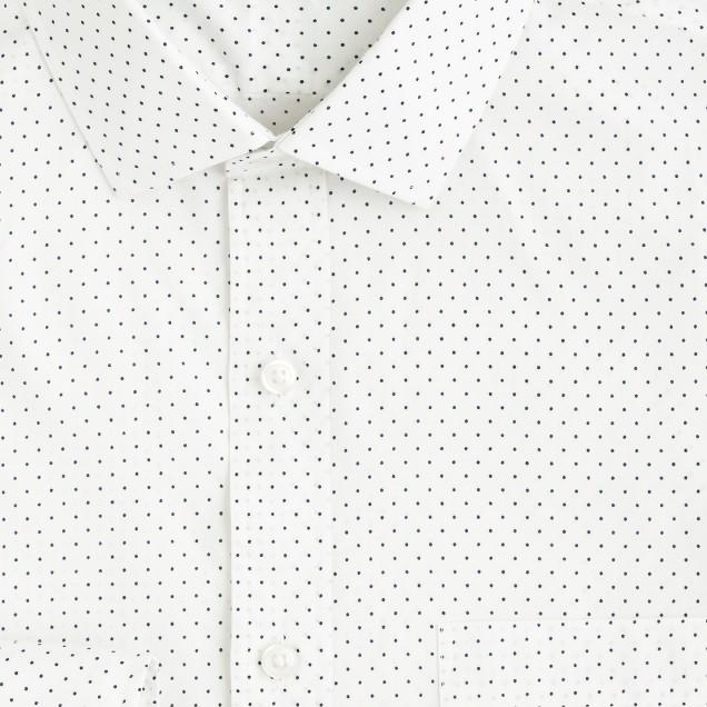 Ludlow spread-collar shirt in dot print