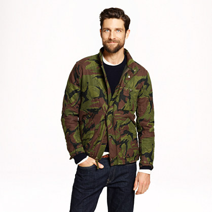 Broadmoor quilted jacket in camo