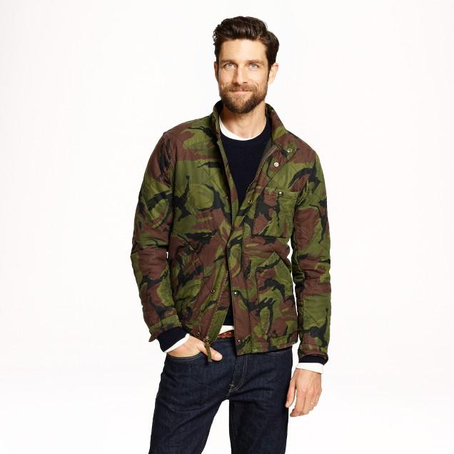Broadmoor quilted jacket in camo