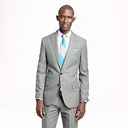 Ludlow suit jacket in windowpane Italian wool-cotton