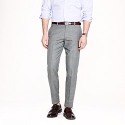 Ludlow slim suit pant in windowpane Italian wool-cotton