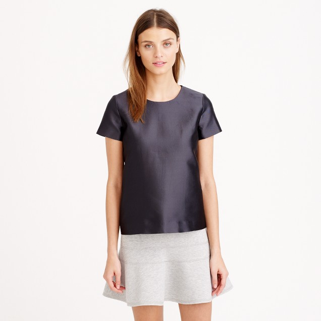 Collection wool-silk twill top
