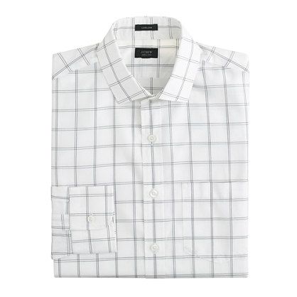 Ludlow spread-collar shirt in bright nightfall check