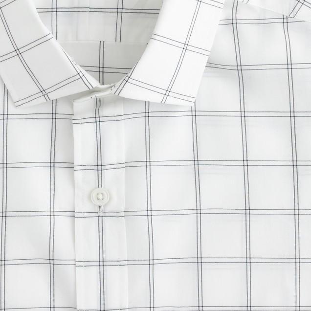 Ludlow spread-collar shirt in bright nightfall check