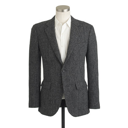 Ludlow suit jacket in herringbone Harris Tweed wool