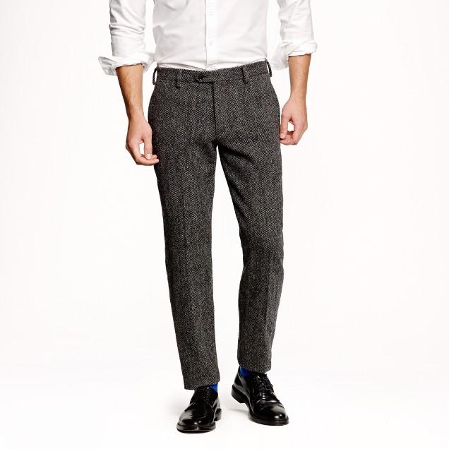 Ludlow slim suit pant in herringbone Harris Tweed wool