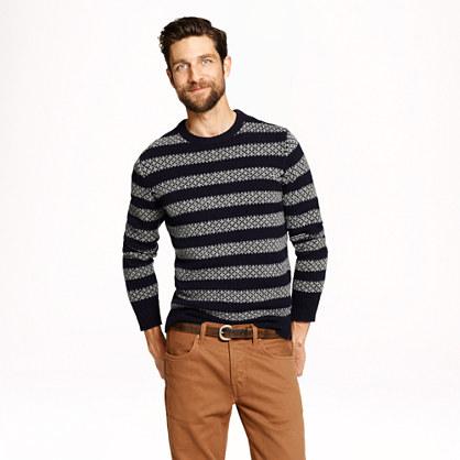 Lambswool sweater in stripe
