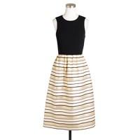 Gold-stripe dress